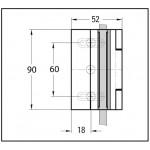 Петля Madrid стекло/стена 90° открытие наружу