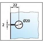 Коннектор Madrid стекло/стена 90°