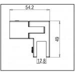 Поворотный коннектор Basic Square штанга/стекло 15х15 мм