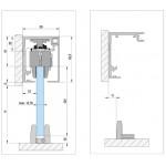 Набор для одностворчатой раздвижной двери с креплением к стене Bohle MasterTrack FT 60