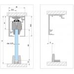 Набор для одностворчатой раздвижной двери с креплением к потолку Bohle MasterTrack FT 60
