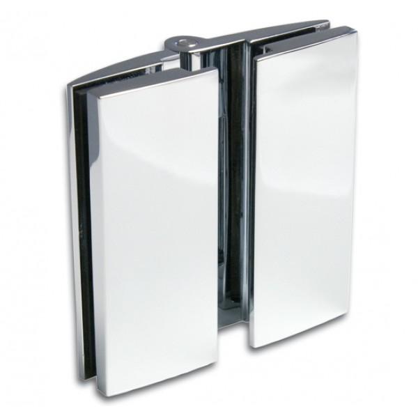 Петля Bella стекло/стекло 180° с открытием внутрь или наружу